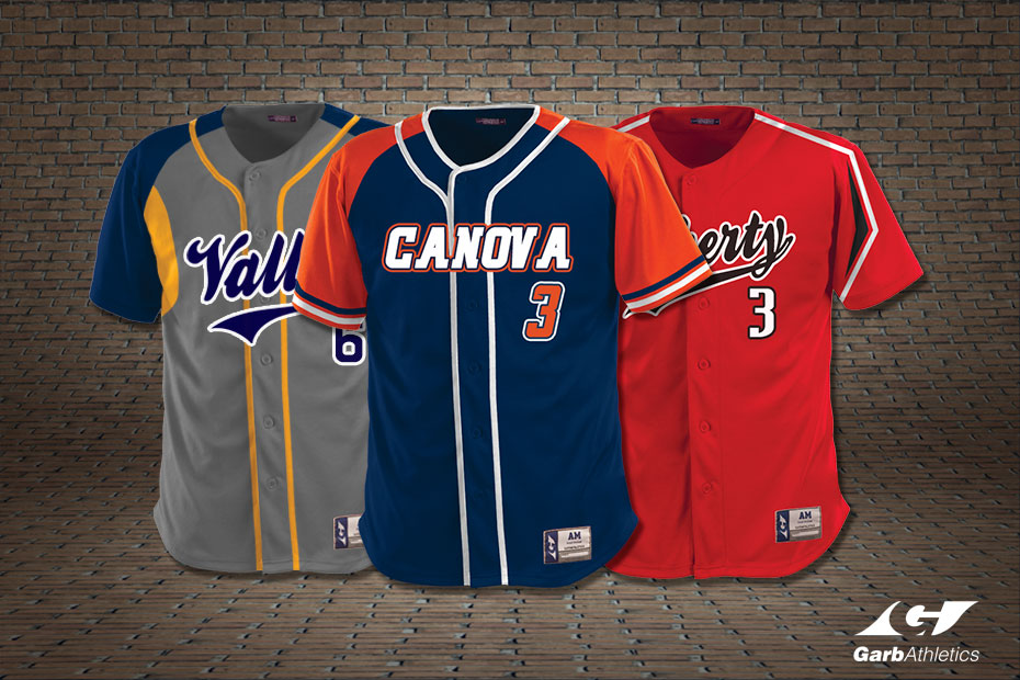 Custom Baseball Jerseys  - just a few out of the hundreds of styles available